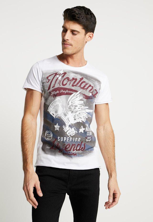 MONTANA - T-shirt z nadrukiem - white