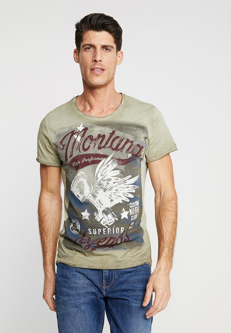 Key Largo - MONTANA - T-shirt imprimé - military green