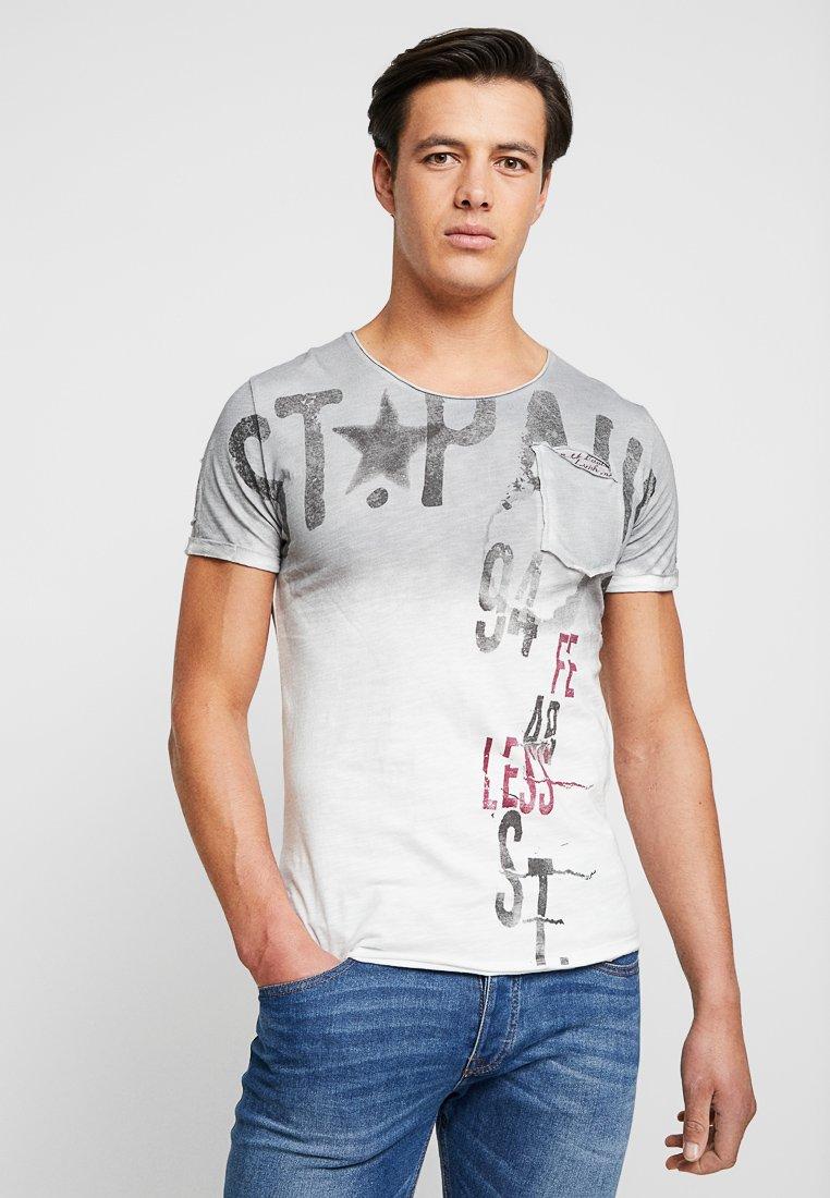 Key Largo - ACHI - T-Shirt print - silver