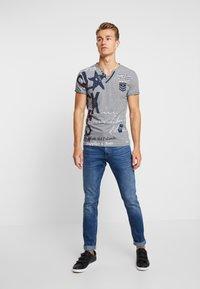 Key Largo - FORCE BUTTON - T-shirt imprimé - blue - 1