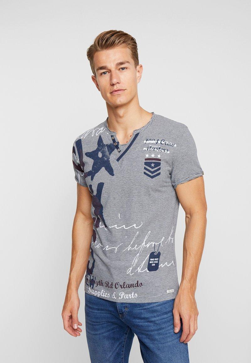 Key Largo - FORCE BUTTON - T-shirt imprimé - blue