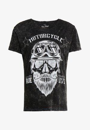 MT BEARDED BIKER - T-Shirt print - black