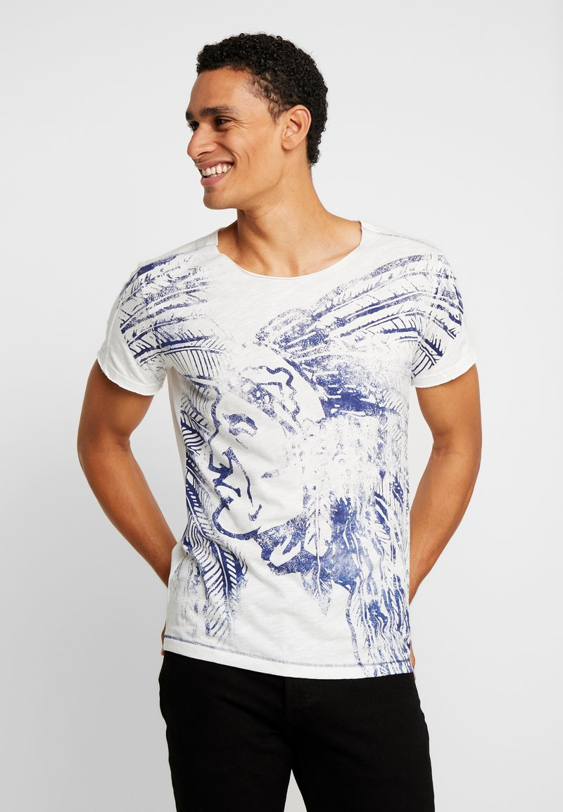 Key Largo - NATIVE ROUND - Print T-shirt - offwhite