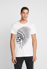 Key Largo - CHIEF ROUND - Print T-shirt - offwhite - 0