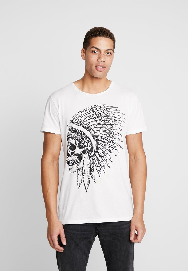 Key Largo - CHIEF ROUND - Print T-shirt - offwhite