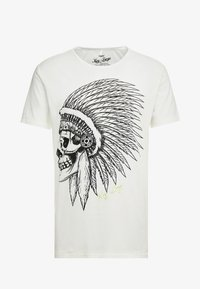 Key Largo - CHIEF ROUND - Print T-shirt - offwhite - 4