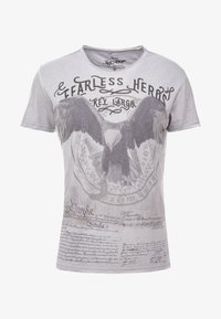 Key Largo - FEARLESS ROUND - T-shirt imprimé - silver - 3