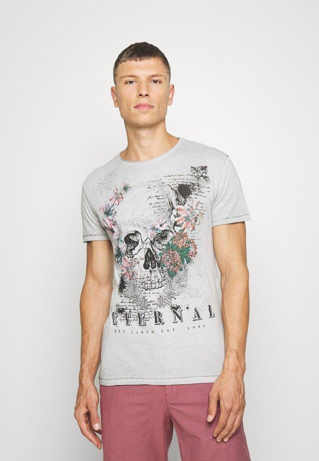 RAGNAR ROUND - T-shirt print - dark silver