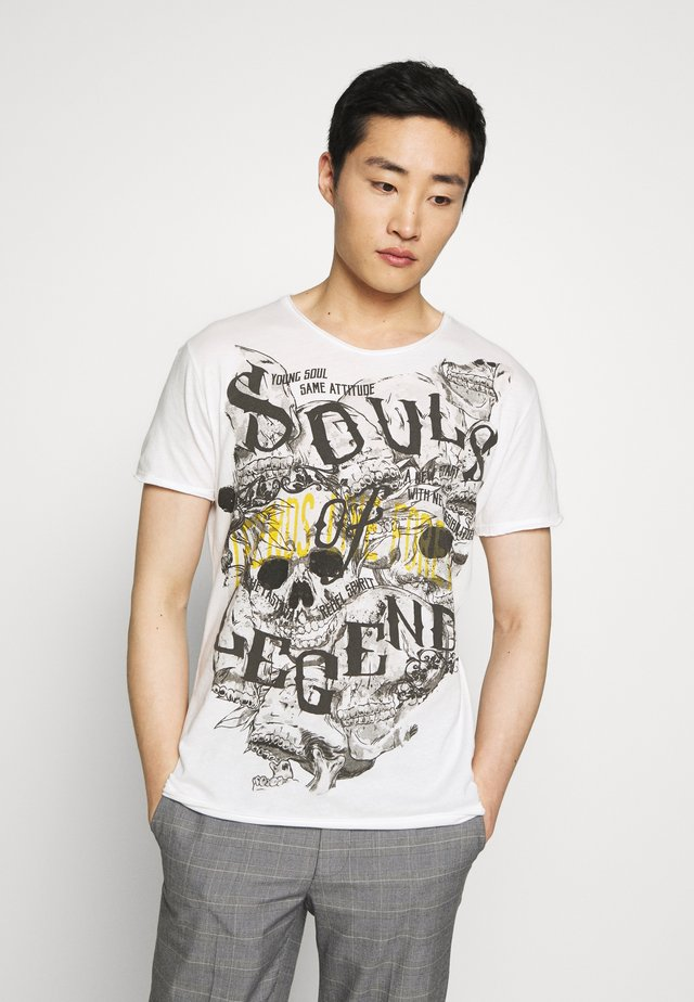 SOUL LEGENDS ROUND - T-Shirt print - offwhite