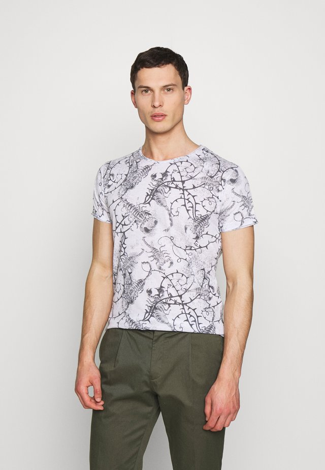 SCORPION ROUND - T-shirt med print - offwhite