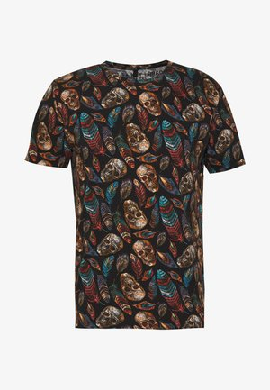 HONESTLY ROUND - T-shirt z nadrukiem - black