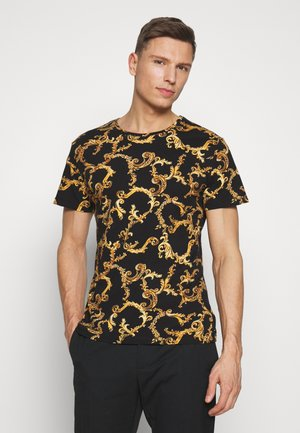 GIANNI ROUND - Print T-shirt - black