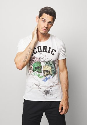ICONIC ROUND - T-shirts med print - offwhite
