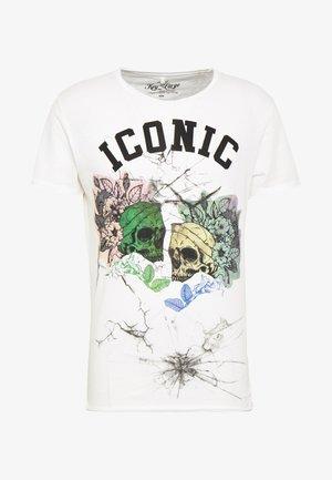 ICONIC ROUND - T-shirt z nadrukiem - offwhite