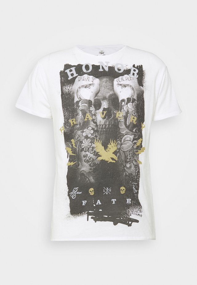 HONOR ROUND - T-shirt med print - offwhite