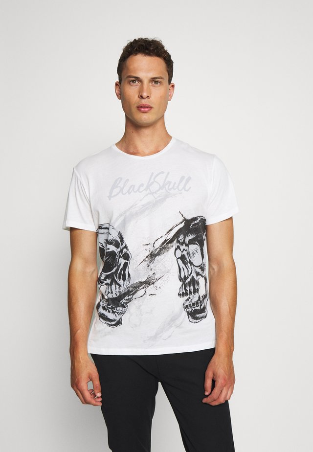 TWINS ROUND - Print T-shirt - offwhite