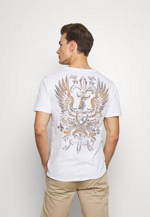 STATE ROUND - Print T-shirt - white