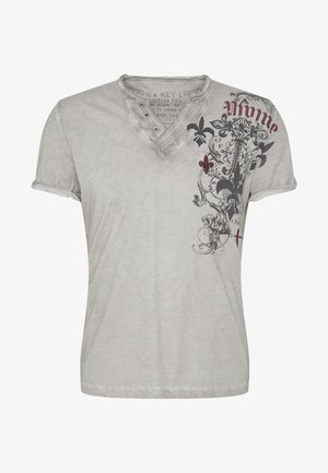 KNIGHT BUTTON - T-shirt con stampa - anthra