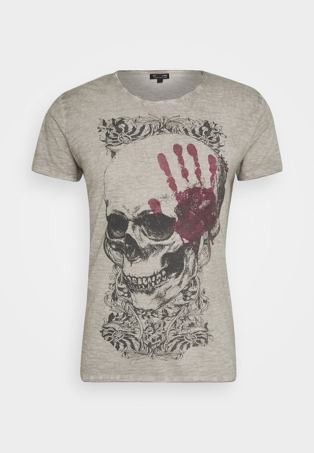TOUCH ROUND - Print T-shirt - silver