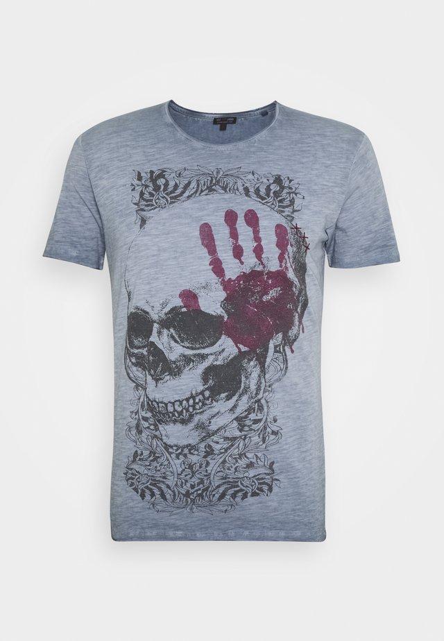 TOUCH ROUND - T-shirt con stampa - steel blue