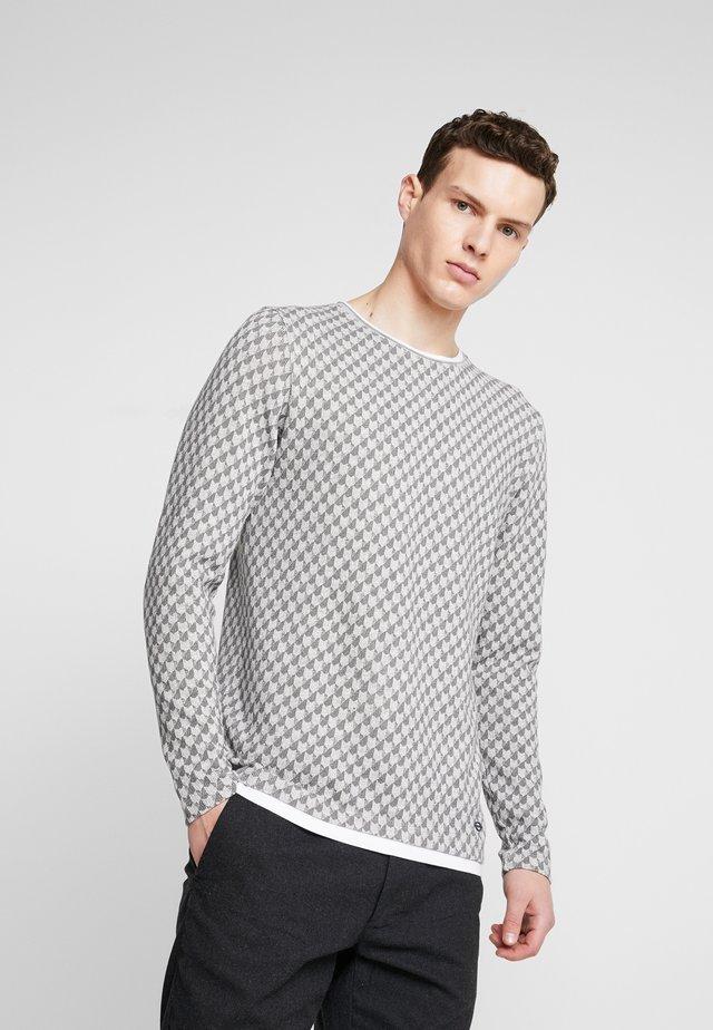 FIGHT - Stickad tröja - grey