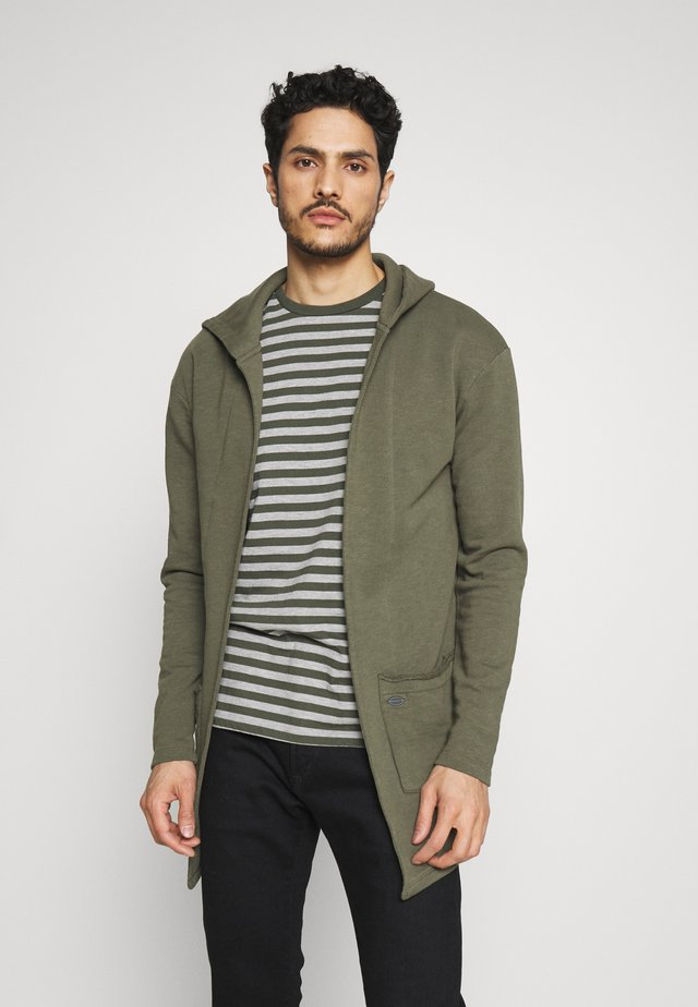 GORDON - Zip-up hoodie - olive