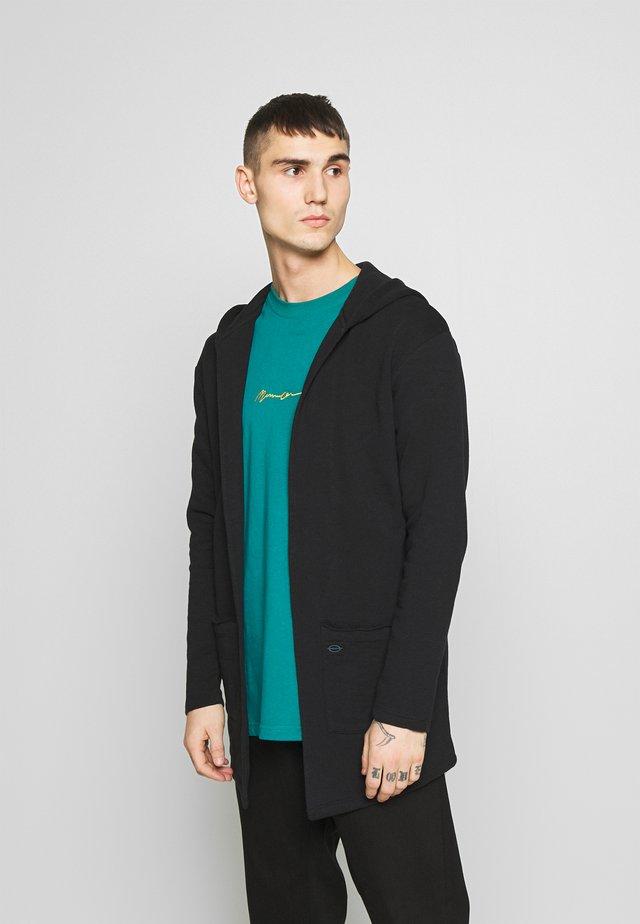 GORDON - Zip-up hoodie - black