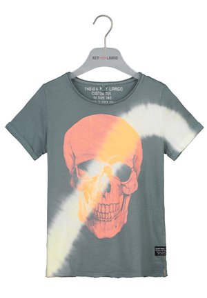 BT BINGO ROUND - Print T-shirt - light grey