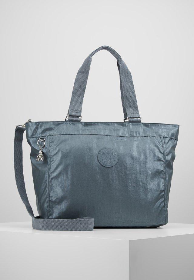 NEW SHOPPER - Shopping bag - steel geyr metal