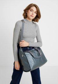 Kipling - NEW SHOPPER - Shopping bag - steel geyr metal - 1