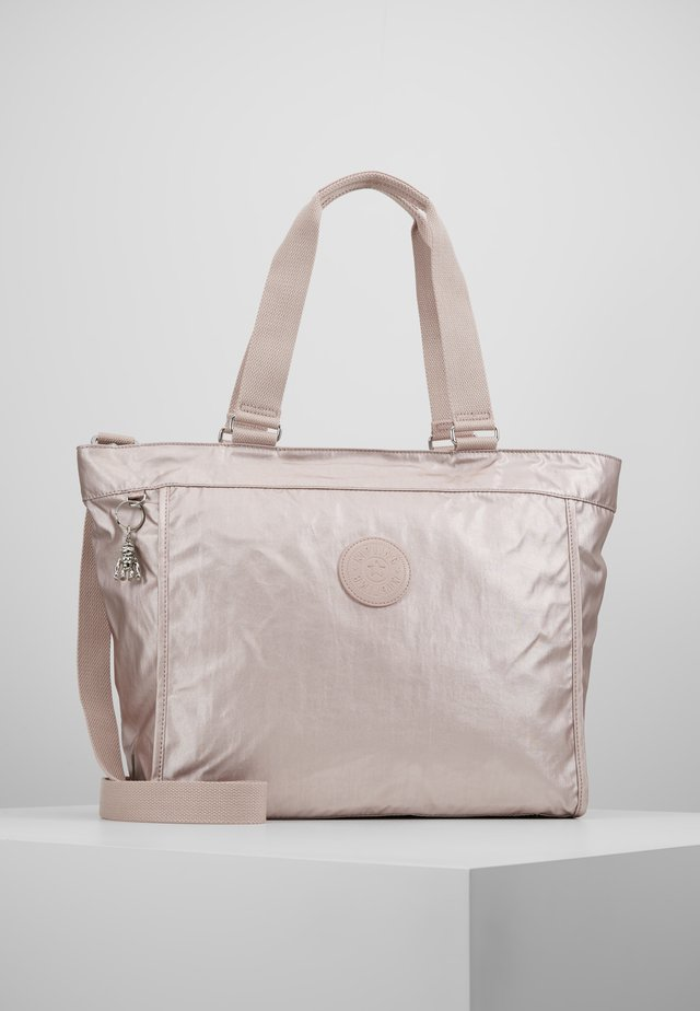 NEW SHOPPER - Shoppingväska - metallic rose