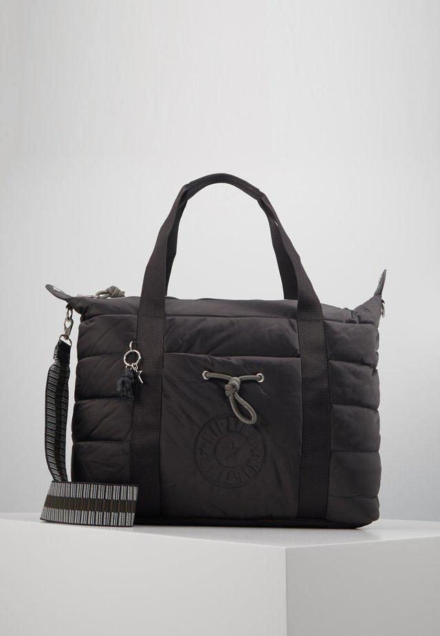 PUFF ART - Shopping bag - cold black