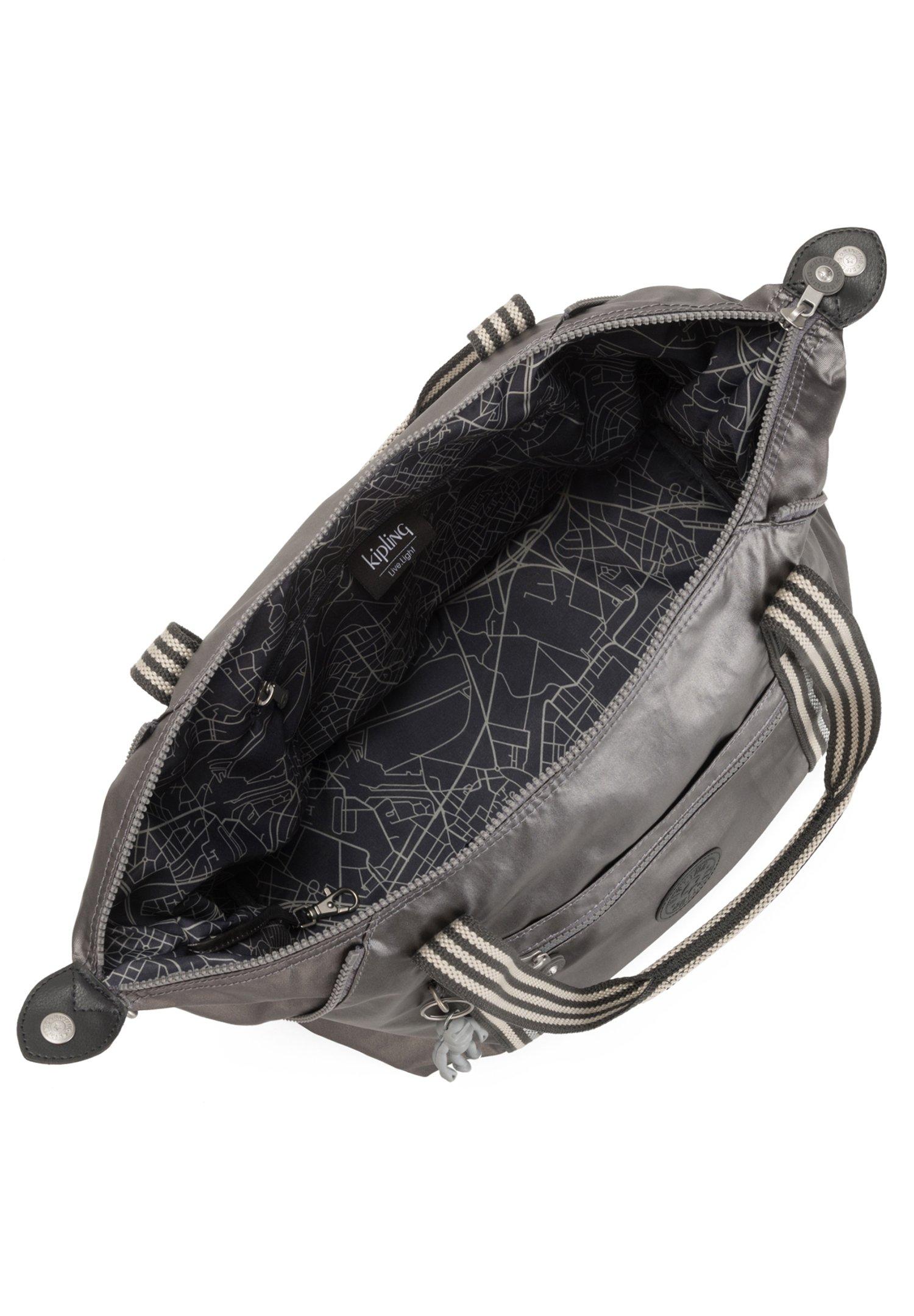 Kipling Classics Art - Cabas Carbon Metallic