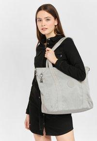 Kipling - ASSENI - Bolso shopping - grey beige - 1