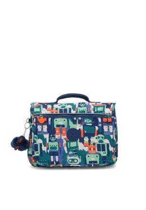 NEW SCHOOL - School bag - robot camo blue