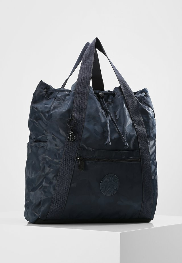 ART BACKPACK M - Rygsække - satin camo blue