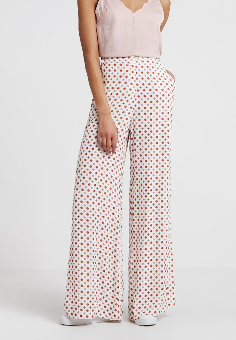 LOIS Jeans - EMILY - Trousers - offwhite/red