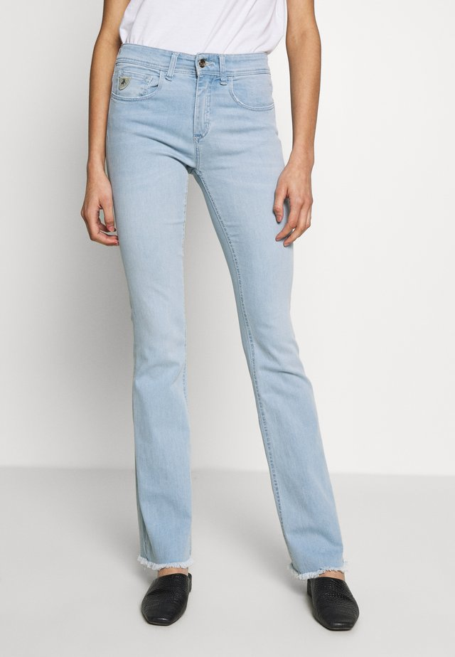 MELROSE - Flared Jeans - light stone