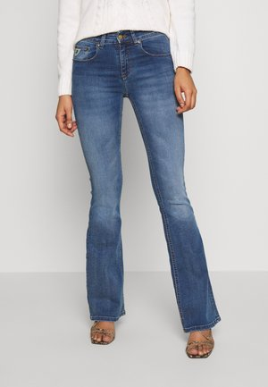 MELROSE - Flared jeans - dark stone