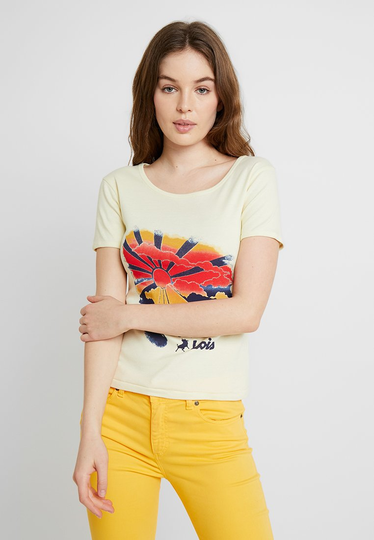 LOIS Jeans - TED - T-Shirt print - yellow/multi-coloured