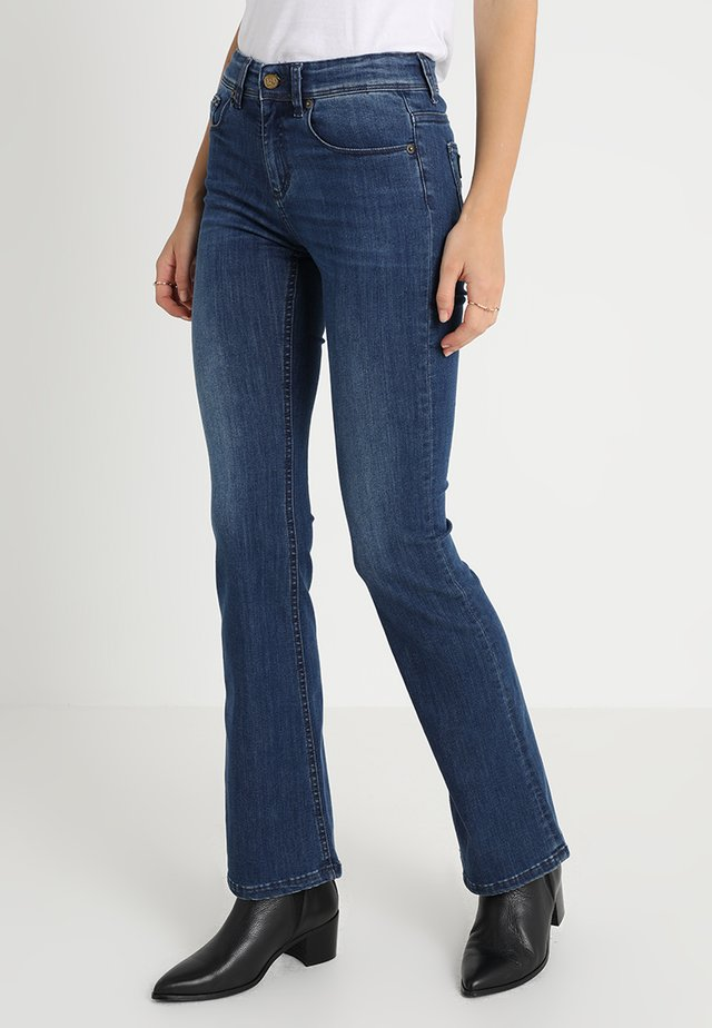 MELROSE LEIA - Bootcut jeans - teal stone