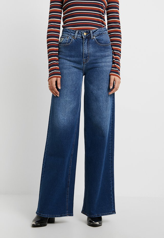 WIDE - Flared Jeans - night rider