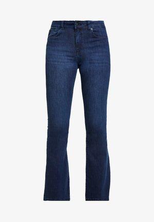 RAVAL - Flared Jeans - dark-blue denim