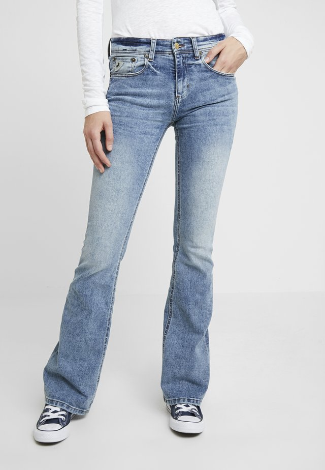 MELROSE - Flared jeans - stone wash