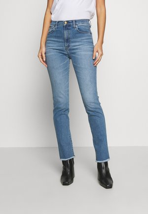 REBECA - Straight leg jeans - stone