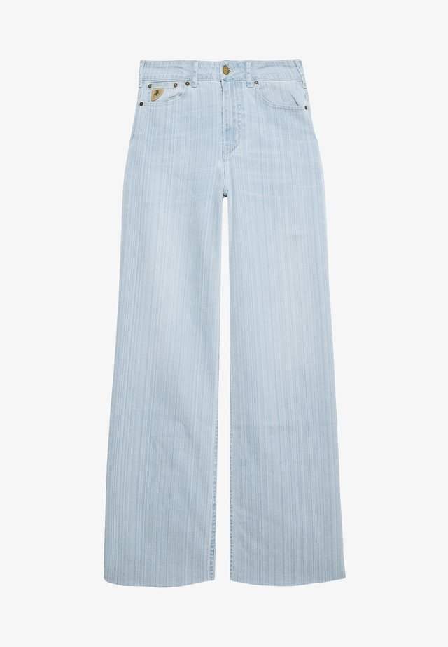 PALAZZO - Flared jeans - light blue denim