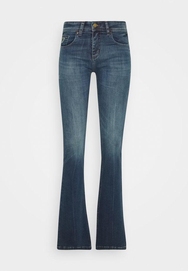 MELROSE - Bootcut jeans - dark stone