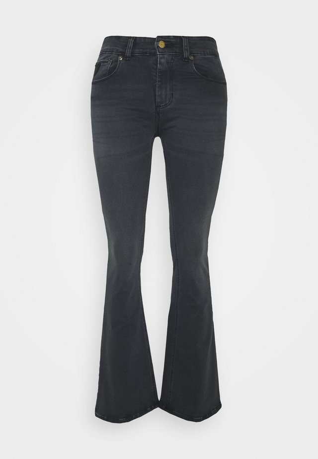 MELROSE - Flared Jeans - black stone