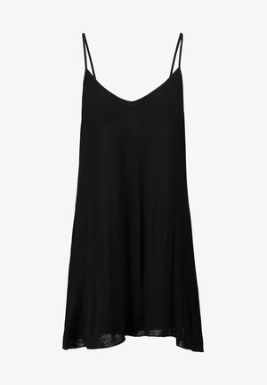 ESSENTIALS CHEMISE LOW V BACK - Nattlinne - black