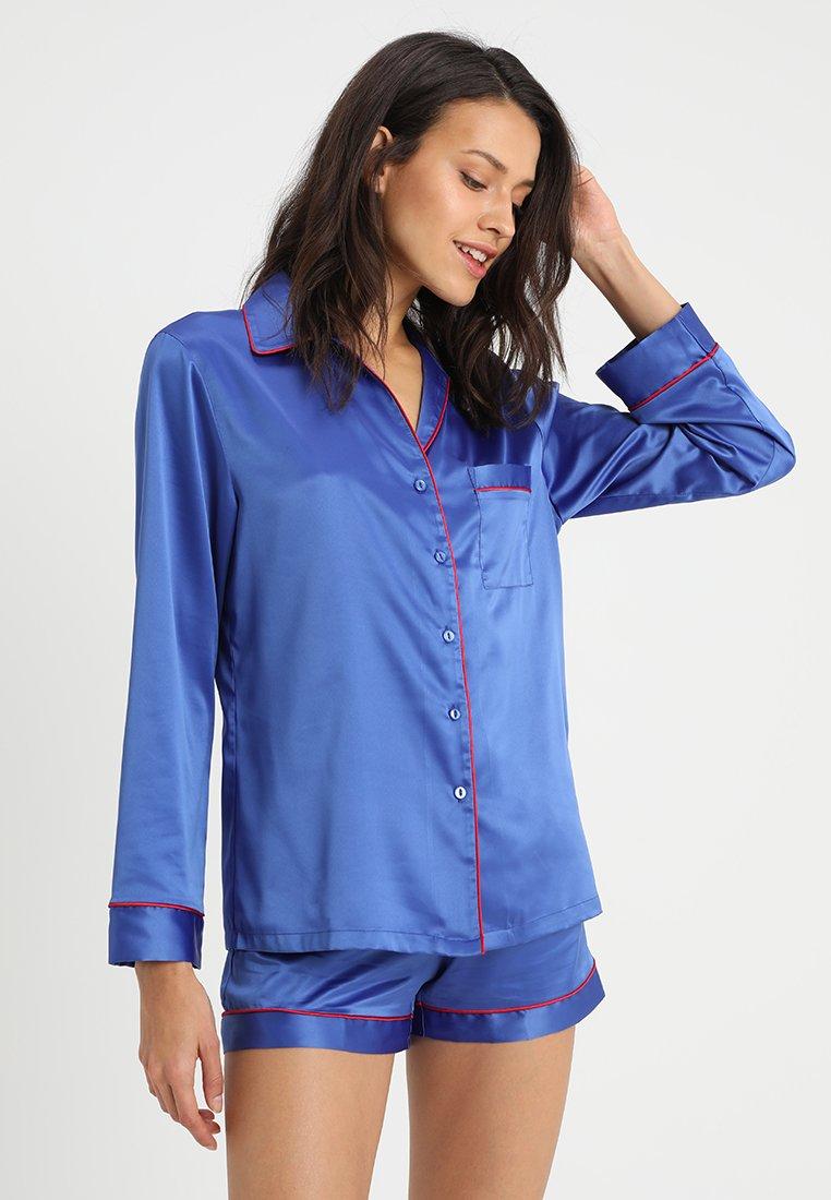 LingaDore - LONG SLEEVES WITH SHORTY - Pyjama set - dark blue/red